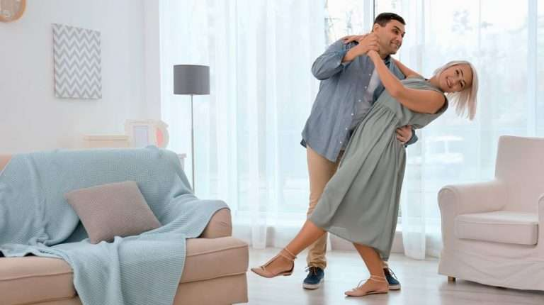 mature-happy-couple-dancing-valse-in-living-room-at-home | Feature | Bioidentical Hormone Therapy (BHRT) and Weight Loss