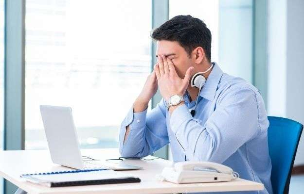 an office man is having stress | Manage Stress | 5 Ways To Deal With Receding Hairline In Men