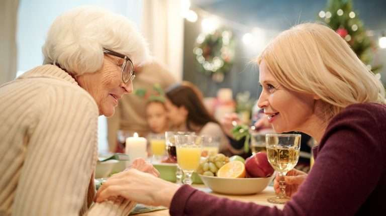blonde-grandma-intimate-talk-with-daughter-during-family-gathering | Feature | Age-Related Mental Decline Could Be Reversed With New Drug