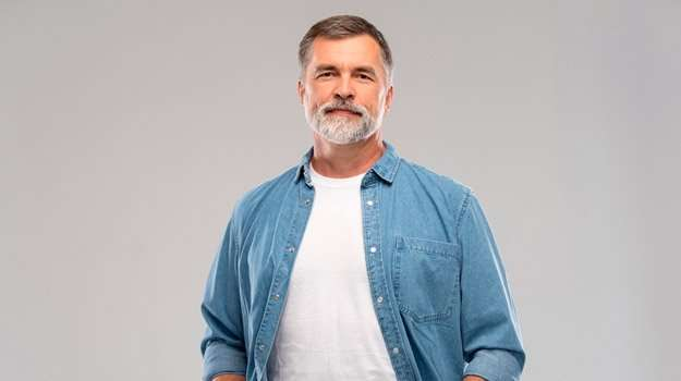 mature-caucasian-man-portrait | Biological Age Testing for Longevity | Biological Age Testing Tells How Well You Are Aging