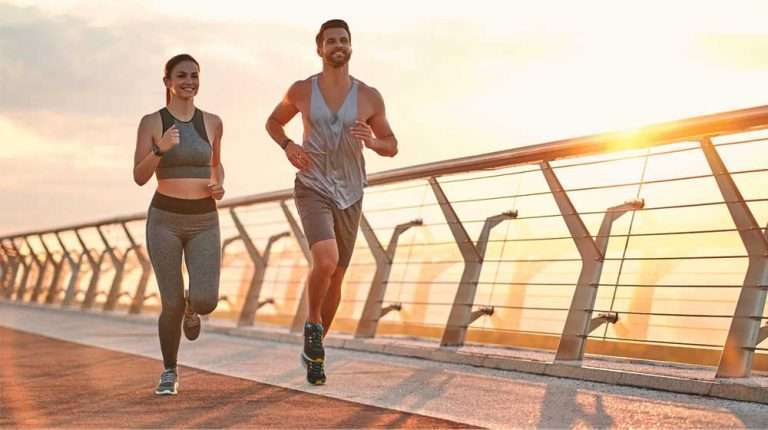 Couple-doing-sport-together-on-the-street- | feature | Improved Metabolism & Other Health Benefits Of CJC 1295/Ipamorelin